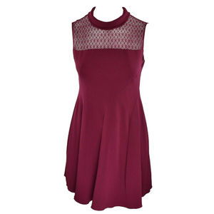 Anne Klein Lace Inset Fit Flare Dress Size 14 New